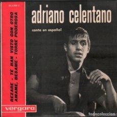 Discos de vinilo: ADRIANO CELENTANO - CANTA EN ESPAÑOL - REZARE, AMAME BESAME.../ EP VERGARA 1963 RF-4948. Lote 278799733