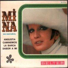 Discos de vinilo: MINA - EN ESPAÑOL - ANGUSTIA, CAMINEMOS, LA BARCA Y SABOR A MI / EP BELTER 1967 RF-4951. Lote 278799958