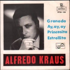 Discos de vinilo: ALFREDO KRAUS - GRANADA, AY,AY,AY - PRINCESITA Y ESTRELLITA / EP MONTILLA / BUEN ESTADO RF-4953. Lote 278800223