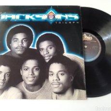 Discos de vinilo: THE JACKSONS LP TRIUMPH 1980 VG+ MICHAEL JACKSON. Lote 278805243