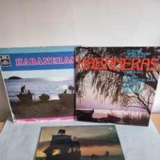 Discos de vinilo: HABANERAS: CORAL SALVE DE LAREDO Y 2 MÁS.. Lote 278807053