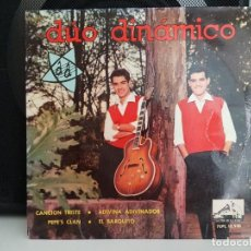 Discos de vinilo: *DÚO DINÁMICO - CANCIÓN TRISTE / ADIVINA ADIVINADOR + 2 - EP AÑO 1963 - LEER DESCRIPCIÓN. Lote 278810438