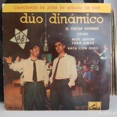 Discos de vinilo: *DÚO DINÁMICO - EL TERCER HOMBRE / VAYA CON DIOS + 2 - EP AÑO 1961- LEER DESCRIPCIÓN. Lote 278812383