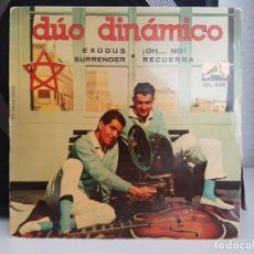 Discos de vinilo: *DÚO DINÁMICO - EXODUS / ¡OH... NO! / RECUERDA / SURRENDER - EP AÑO 1961 - LEER DESCRIPCIÓN. Lote 278812713