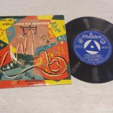 Discos de vinilo: SOLISTAS DE LA ESCOLANÍA DE MONTSERRAT / CESAR FRANCK DUETTOS / EP-ALHAMBRA-1958 / MBC. ***/***. Lote 278821513