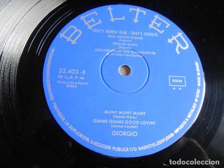 Discos de vinilo: GIORGIO - THAT´S BUBBLE GUM -, LP, LOOKY, LOOKY + 10, AÑO 1970 - Foto 4 - 278822648