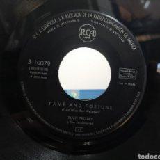 Discos de vinilo: ELVIS PRESLEY SOLO EL VINILO DEL SINGLE FAME AND FORTUNE / STUCK ON YOU ESPAÑA 1960. Lote 278824633