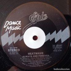 Discos de vinilo: HEATWAVE ALWAYS AND FOREVER MAXI SINGLE VINILO ORIGINAL USA. Lote 278826518