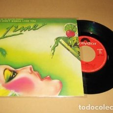 Discos de vinilo: LIME - NO TE QUIERO PERDER (I DON'T WANNA LOSE YOU) - SINGLE - 1984. Lote 278837808