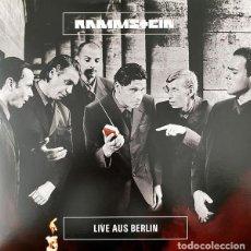 Discos de vinilo: LP RAMMSTEIN - LIVE AUS BERLIN - MOTOR MUSIC LP 547 593-2 - VINILO AMARILLO - NUEVO !!!!*. Lote 278848503