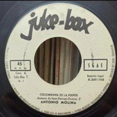 Discos de vinilo: JUKE - BOX / ANTONIO MOLINA. Lote 278855233