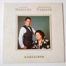 Discos de vinilo: FREDDIE MERCURY- MONTSERRAT CABALLE- BARCELONA - SPAIN LP 1988 + ENCARTE- QUEEN- EXC. ESTADO.. Lote 278872903