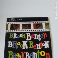 Discos de vinilo: BROOK BENTON FOOLS RUSH IN + 3 ( 1960 MERCURY ESPAÑA ) MUY RARO MUY BUEN ESTADO. Lote 278873763