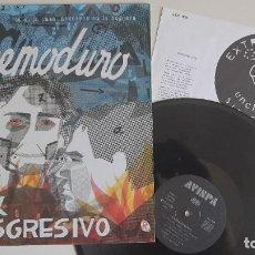 Discos de vinilo: EXTREMODURO ROCK TRANSGRESIVO LP RARO ORIGINAL 1ª EDICION 1989 AVISPA CON ENCARTE. Lote 278931518