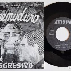 Disques de vinyle: EXTREMODURO EXTREMAYDURA / LA HOGUERA 45 ORIGINAL 1990 AVISPA SINGLE MEGARARO. Lote 278933058