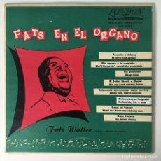 Discos de vinilo: FATS DOMINO - FATS EN EL ORGANO, ARGENTINA LONDON RECORDS. Lote 278934448