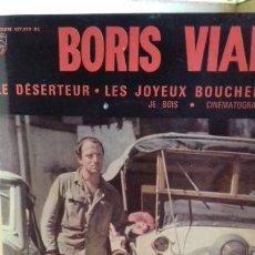 Discos de vinilo: BORIS VIAN .LE DESERTEUR.Y 3 MAS EDICION FRANCESA. Lote 278944438