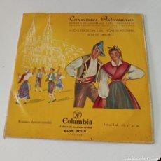 Discos de vinilo: CANCIONES ASTURIANAS - AGRUPACION LANGREANA CORO SANTIAGUIN. Lote 278956113