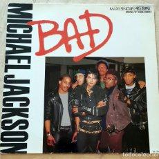 Discos de vinilo: MICHAEL JACKSON - BAD MAXI-SINGLE. Lote 278957073