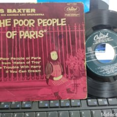 Discos de vinilo: LES BAXTER EP THE POOR PEOPLE OF PARIS + 3 ESPAÑA ESCUCHADO. Lote 278957243