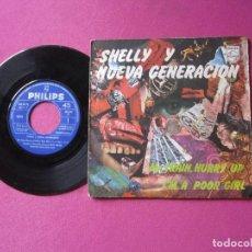 Discos de vinilo: SHELLY Y NUEVA GENERACION MR. TRAIN HURRY UP VINILO. Lote 278957508