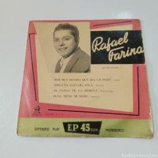 Discos de vinilo: RAFAEL FARINA 1958 EL REY GITANO - GUITARRAS ANTONIO GONZALEZ ( PESCADILLA ) Y PAQUITO SIMON. Lote 278960358