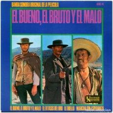 Discos de vinilo: ENNIO MORRICONE – EL BUENO, EL BRUTO Y EL MALO - EP SPAIN 1967 - UNITED ARTISTS RECORDS HU 067. Lote 278961713