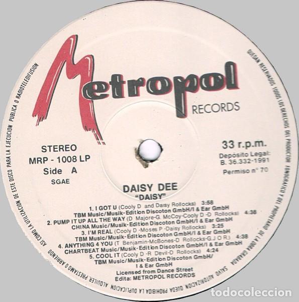 Discos de vinilo: Daisy Dee – Daisy - Foto 3 - 278962243