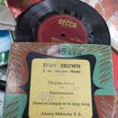 Discos de vinilo: IVÁN BROWN Y SU CALYPSO MUSIC EP CHIQUITA BACANA + 3 ESPAÑA. Lote 278962323