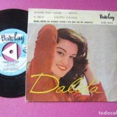 Discos de vinilo: DALIDA CON RAYMOND HISTOIRE D UN AMOUR GITANE EP MUY RARO. Lote 278962948