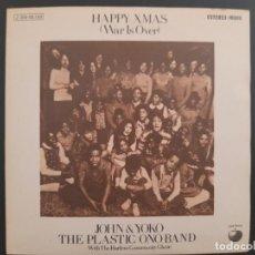 Discos de vinilo: JOHN LENNON - HAPPY XMAS(WAR IS OVER) BEATLES SINGLE ESPAÑOL NUEVO A ESTRENAR. Lote 278963803