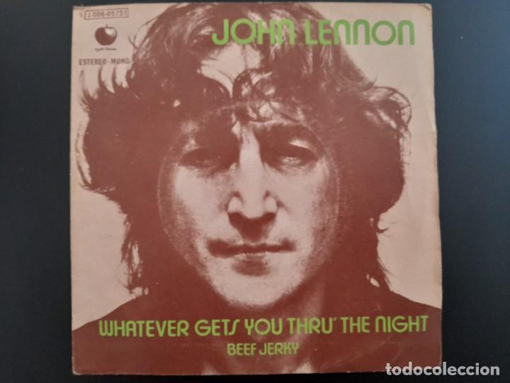 JOHN LENNON WHATVEVER GETS YOU THRU THE NIGHT BEATLES SINGLE ESPAÑOL (Música - Discos - Singles Vinilo - Pop - Rock - Internacional de los 70)