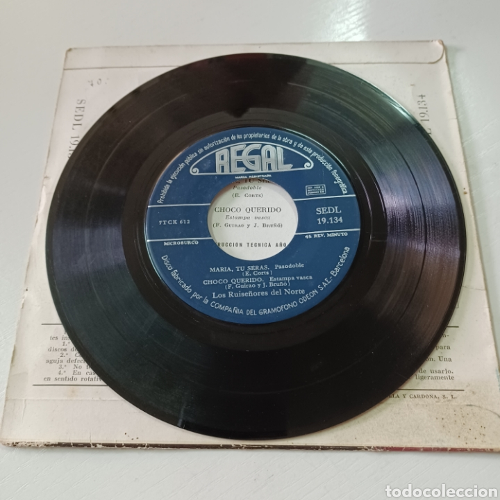 Discos de vinilo: LOS RUISEÑIRES DEL NORTE - LOS BORRACHOS, MARIA TU SERAS ... 1957 REGAL - Foto 4 - 278965483