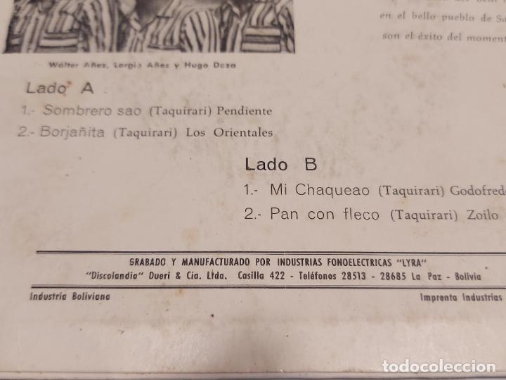 Discos de vinilo: EL TRIO ORIENTAL / SOMBRERO SAO / EP-33 R.P.M. - LYRA-BOLIVIA / HIPER RARO / PEQUEÑAS MARCAS.***/** - Foto 3 - 278965498