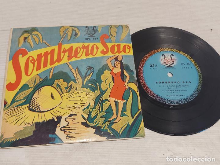 EL TRIO ORIENTAL / SOMBRERO SAO / EP-33 R.P.M. - LYRA-BOLIVIA / HIPER RARO / PEQUEÑAS MARCAS.***/** (Música - Discos de Vinilo - EPs - Country y Folk)