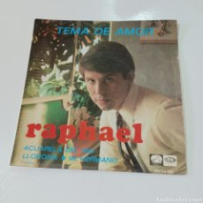 Discos de vinilo: RAPHAEL - TEMA DE AMOR, ACUARELA DEL RIO, LLORONA, MI HERMANO 1967. Lote 278966043