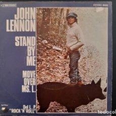 Discos de vinilo: JOHN LENNON STAND BY ME BEATLES SINGLE PROMOCIONAL ESPAÑOL. Lote 278966163