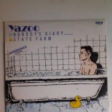 Discos de vinilo: YAZOO. NOBODY'S DIARY. SUPERSINGLE. 1983 ESPAÑA. SPCO-7432. DISCO VG+. CARÁTULA VG+.. Lote 278966678