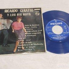 Discos de vinilo: RICARDO CERATTO Y LOS BIG BOYS / TWIST DE BENIDORM + 11 EP - PHILIPS-1962 / MBC. ***/***. Lote 278966718