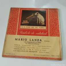 Discos de vinilo: MARIO LANZA - TOSCA, LOS MILLONES DE ARLEQUIN .... Lote 278966918