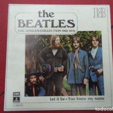 Discos de vinilo: THE BEATLES - LET IT BE YOU KNOW MY NAME EDICIÓN LIMITADA DEL CONJUNTO DE THE BEATES THE SINGLES C. Lote 278967003