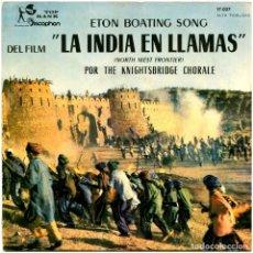 Discos de vinilo: THE KNIGHTSBRIDGE CHORALE – ETON BOATING SONG - EP SPAIN 1960 - TOP RANK INTERNATIONAL 17.027. Lote 278967403