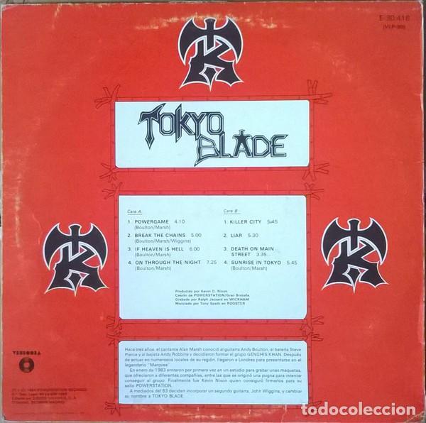 Discos de vinilo: Tokyo Blade – Tokyo Blade - Foto 2 - 278967563