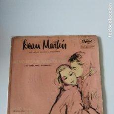 Discos de vinilo: DEAN MARTIN MEMORIES ARE MADE OF THIS INSTANTES PARA RECORDAR + 3 ( 1958 CAPITOL ESPAÑA ). Lote 278968198