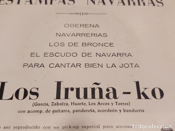 Discos de vinilo: LOS IRUÑA-KO / ESTAMPAS NAVARRAS / EP - COLUMBIA-1962 / MBC. ***/*** - Foto 3 - 278968268