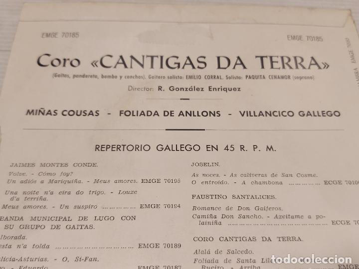 Discos de vinilo: CORO CANTIGAS DA TERRA / MIÑAS COUSAS + 2 / EP - ALHAMBRA-1963 / MBC. ***/*** - Foto 3 - 278969293