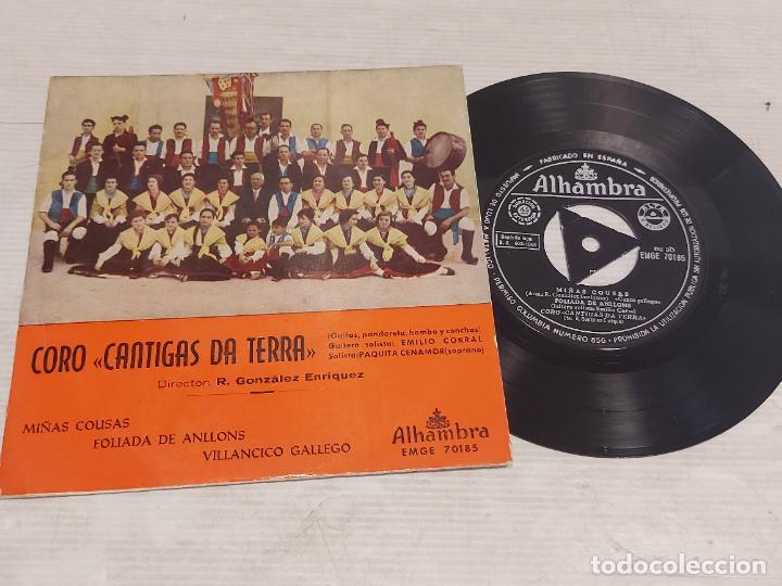 CORO CANTIGAS DA TERRA / MIÑAS COUSAS + 2 / EP - ALHAMBRA-1963 / MBC. ***/*** (Música - Discos de Vinilo - EPs - Country y Folk)