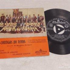 Discos de vinilo: CORO CANTIGAS DA TERRA / MIÑAS COUSAS + 2 / EP - ALHAMBRA-1963 / MBC. ***/***. Lote 278969293