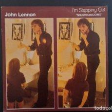 Discos de vinilo: JOHN LENNON I'M STEPPING OUT BEATLES SINGLE ESPAÑOL. Lote 278969968
