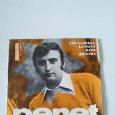 Discos de vinilo: PERET UNA LAGRIMA / LO MATO / GATO / SIEMPRE ( 1967 VERGARA ). Lote 278970253